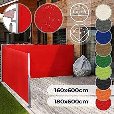 SIMSALABIM 600cm Doppel-Seitenmarkisen Sonnen-, Sicht- und Windschutz, viele Farben