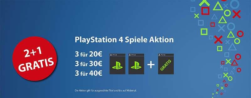 PS4 Spiele 2+1 AKTION!