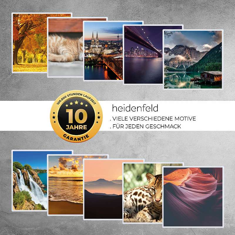 Infrarotheizung HF-HP105 mit Bild, Infrarotheizkörper, TÜV GS, 10J Garantie