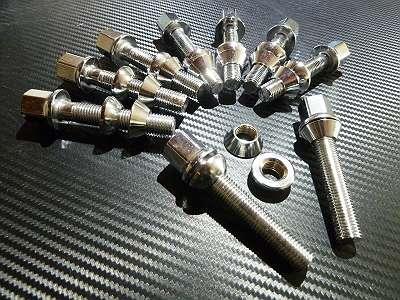 Verchromte Radschrauben in Länge 26-55mm günstig zu verkaufen