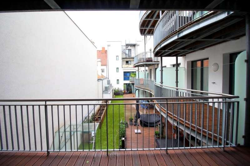 Blick aus dem Wohnzimmer oben
