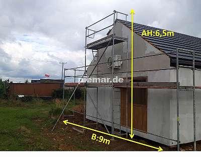 Fassadengerüst Holzböden Baugerüst NEU Gerüst Typ Plettac 49 qm mit Bordbretter