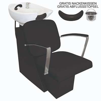 Friseurwaschsessel Schwarz Friseursessel Rückwärtswaschsessel für Friseur Waschsessel Rückwärtswaschbecken Friseurstuhl Friseureinrichtung 26745