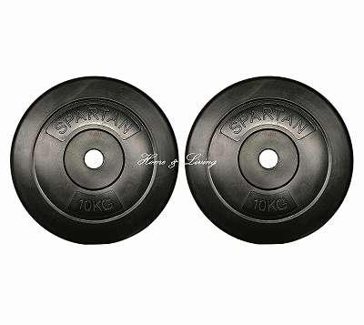 NEUE Hantelscheiben 2 Stück je 10 kg Ø 30mm Lochdurchmesser - Gewichte - Hantel Scheiben - Training - Hanteln - Gewichtsscheiben