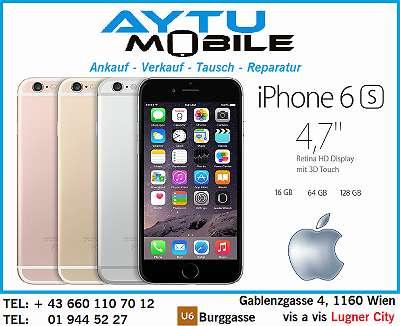 iPHONE 6S SiLVER 128GB TOP ZUSTAND MIT ALLE ZUBEHÖR