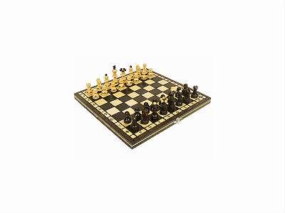 Kleines Holzschach / Schachbrett aus Holz