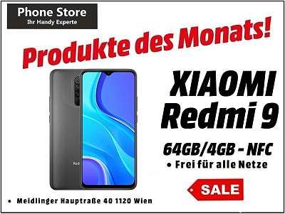 Xiaomi Redmi 9 NFC 64GB/4GB RAM Carbon Grey / Nagelneu, Org. Versiegelt/ Werksoffen, Frei Für Alle Simkarten/ Mit 12 Monate Hersteller Garantie/