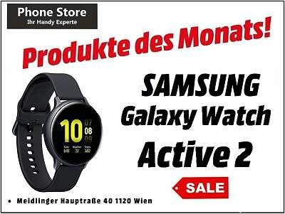Samsung Galaxy Watch Active 2 R820 Aluminum 44mm schwarz / Nagelneu, Org. Versiegelt / Mit 12 Monate Hersteller Garantie/