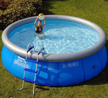 Aufstellbecken mit luftring rund 457 x 107 cm inkl for Pool aufstellbecken rund