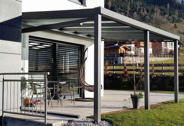 terrassendach aus alu 4 x3 m auch als bausatz 2751 matzendorf willhaben