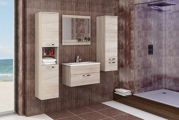 badezimmerset mit waschbecken und spiegel badezimmerm bel