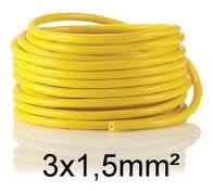 50m Baustellenleitung Kabel gelb 3*1,5 K35 auch andere Querschnitte