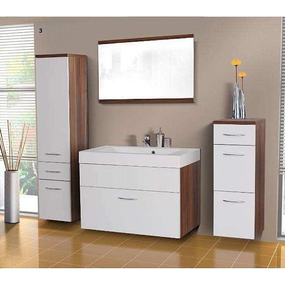 evo 5 badezimmerset mit waschbecken und spiegel