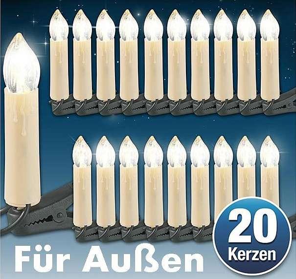 Neu lichterkette mit 20 kerzen für innen und aussen   weihnachten ...