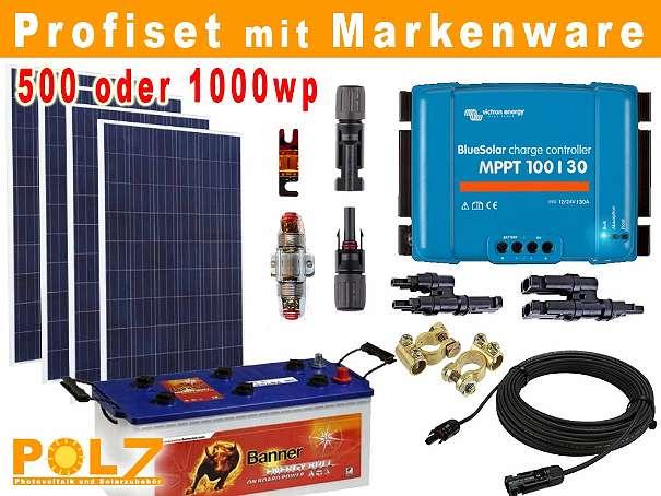 photovoltaik solarmodul inselanlage sets 540wp 1080wp mit profi komponenten f r gartenh tte. Black Bedroom Furniture Sets. Home Design Ideas