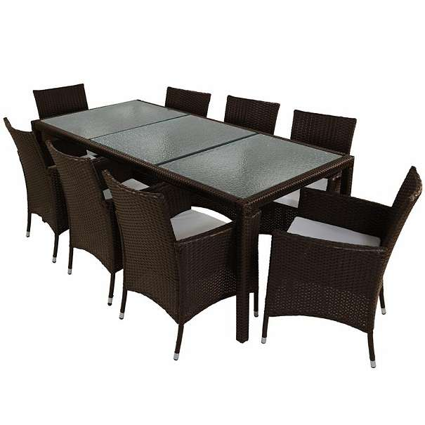 polyrattan gartenm bel essgruppe sitzgruppe gartenset garnitur braun neu lucia braun xl 499. Black Bedroom Furniture Sets. Home Design Ideas