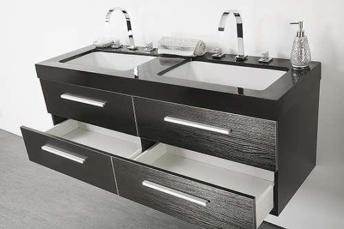 badm belset mit waschbecken badezimmer schrank und spiegel badm bel schwarz malaga. Black Bedroom Furniture Sets. Home Design Ideas