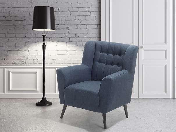 Sessel Dunkelblau - Relaxsessel - Fernsehsessel - Chefsessel - Polstersessel - ROSKILDE - Wien - Rabatt in Höhe von 10 €! Um den Rabatt zu erhalten geben Sie bei der Bestellung den Code WH98AT ein. Der Sessel ist gut kombinierbar. Seine elegante, anmutige Art wird den Charakter ihres Wohnzimmers verändern. Die Chesterfield-Struktur in der  - Wien