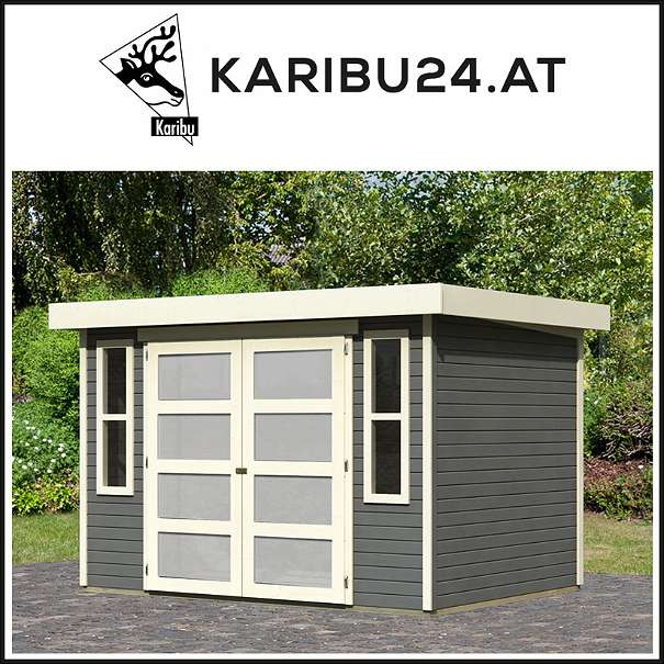 gartenhaus m hlendorf iiii 19mm systemhaus terragrau karibu 1010 wien willhaben. Black Bedroom Furniture Sets. Home Design Ideas