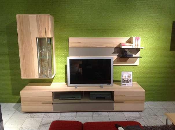 Wohnzimmerverbau, WohnzimmerSet Wohnwand, Kommode und