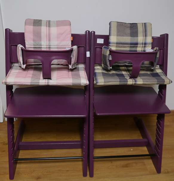 stokke tripp trapp hochstuhl in purple lila optional mit babyset und kissen und versand 165. Black Bedroom Furniture Sets. Home Design Ideas