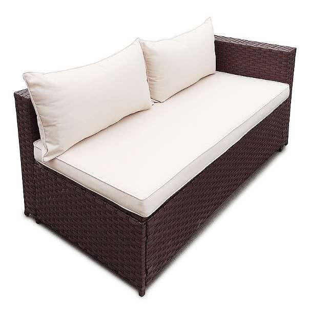 Poly rattan garten lounge gartenset braun garnitur polyrattan gartenm bel neu model clic 299 - Polyrattan lounge gartenset ...