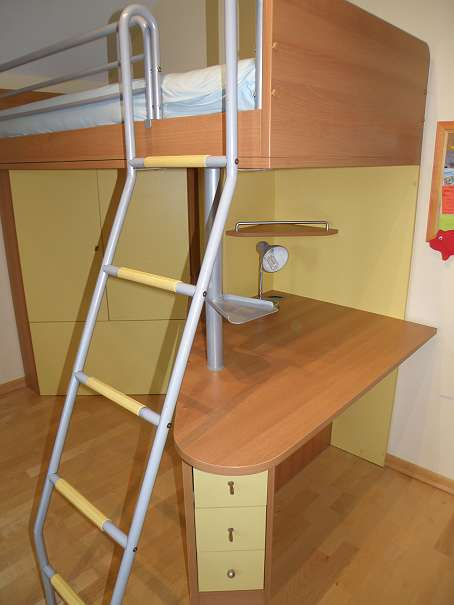 Neuer preis kinderzimmer jugendzimmer mit hochbett for Jugendzimmer schrank mit schreibtisch