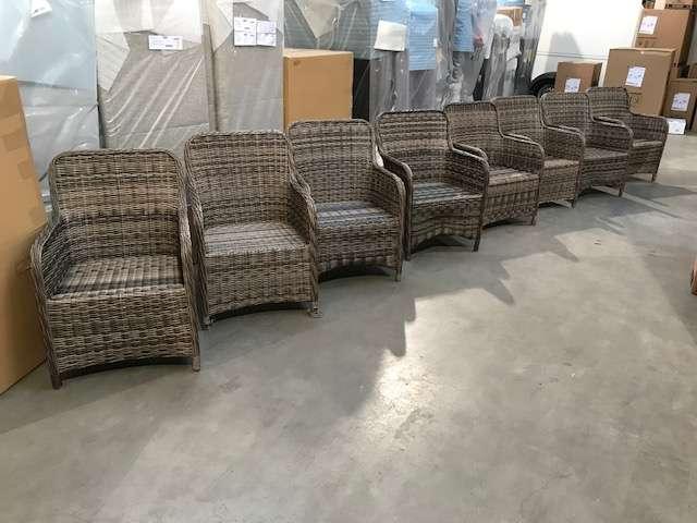 8x Gartensessel Korsika Gartenmobel Polyrattan Stuhl Sessel 200