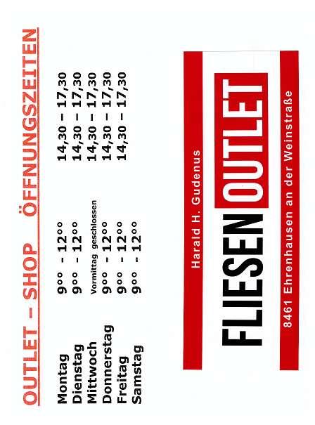 Fliesen outlet  FliesenOutlet, € 0,01 (8461 Ehrenhausen) - willhaben