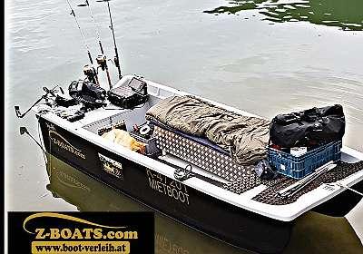 Motorboot Z 410 K Katamaran Fischerboot Ruderboot Kleinboot Angelboot