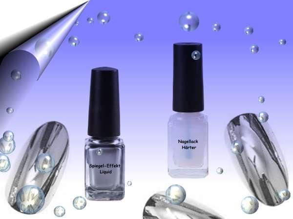 Mirror Spiegel-Effekt Nagellack 2-er Set - Wien - 2-Komponenten Nagellack - Mirror Liquid Silber mit Härter, der komplett widerstandsfähige Oberfläche entwickelt, für eine spektakuläre Spiegel Effekt auf die Nägel. Bietet eine besondere, wunderschöne Nageldekoration, 100% Originalität & Qu - Wien