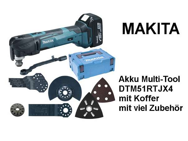 makita akku multi tool dtm51rtjx4 mit koffer mit viel. Black Bedroom Furniture Sets. Home Design Ideas