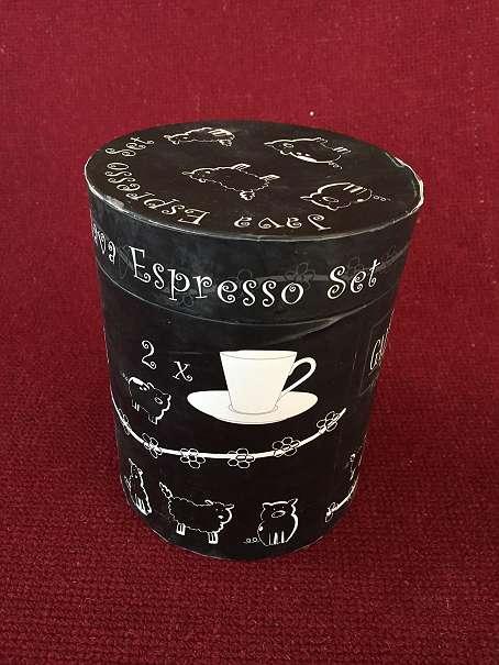 Espresso Service 2 teilig neu - Wien - Espresso Service, 2 teilig mit Untertasse, Schafmotiv - Wien