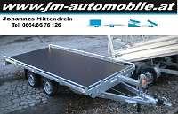 Autotransportanhänger Universaltransporter 4x2m Seilwinde Rampen