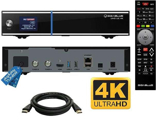 gigablue uhd ue 4k  GigaBlue UHD UE 4K mit 2 x DVB-S2 FBC Tuner, € 225,- (8020 Graz ...