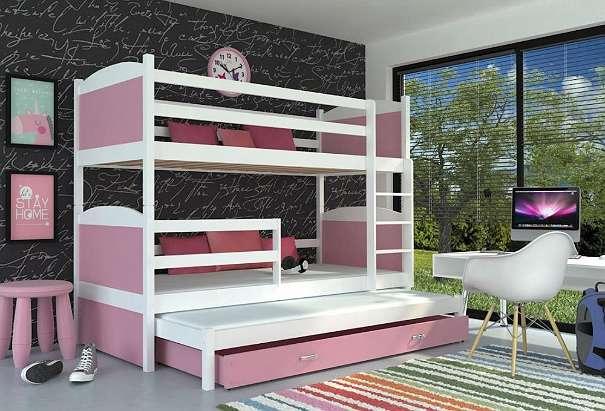 Etagenbett Für 3 : Neu etagenbett smile trio für kinder weiss mit garantie inkl