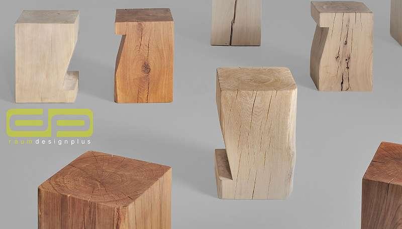 massiver klotz cube als hocker nachttisch beistelltisch oder deko aus baumstamm gefertigt. Black Bedroom Furniture Sets. Home Design Ideas