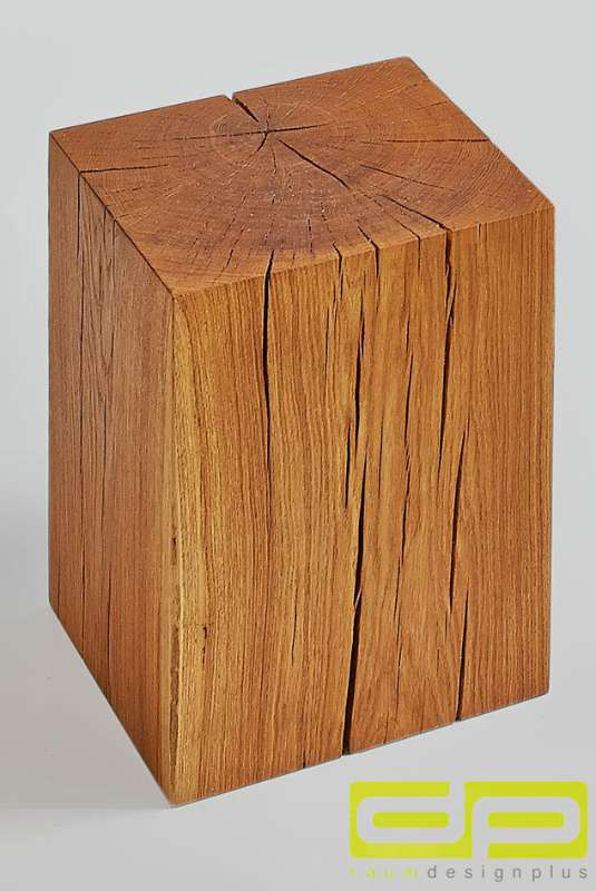 Außergewöhnlich Massiver Klotz Cube als Hocker, Nachttisch, Beistelltisch oder @UX_32