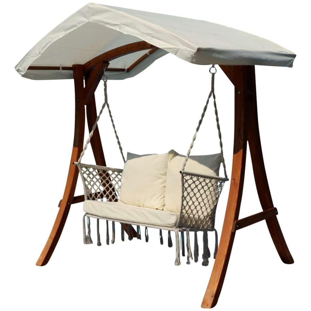 Design Hollywood Schaukel mit Sitzbank Waikiki aus Holz Lärche mit ...