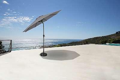Sonnenschirm Ø 270 cm grau Gartenschirm Schirm Pendelschirm Sonnenschutz Ampelschirm 87745152