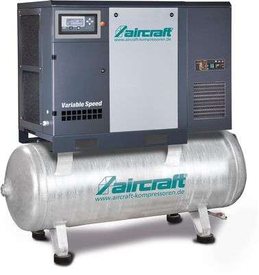 ? 8.635 exkl. Mwst.! Schraubenkompressor frequenzgeregelt AIRCRAFT A-K-MAX 7,5-10-270F K VS mit Kältetrockner