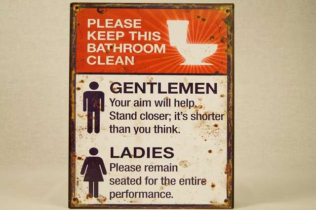 Metallschild im Retrolook fürs WC Toilette Badezimmer Bad Klo Wand ...