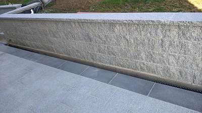 Granit Mauerstein Leistenstein gesägt 40 x 20 x 20 cm Gartenzaun Stein Granit Mauer
