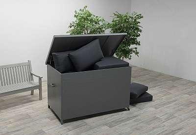 Cambridge Kissenbox arctic grey 167 x 96,5 x H98,5 cm Auflagenbox Gartenbox Aufbewahrungsbox GI62100GT