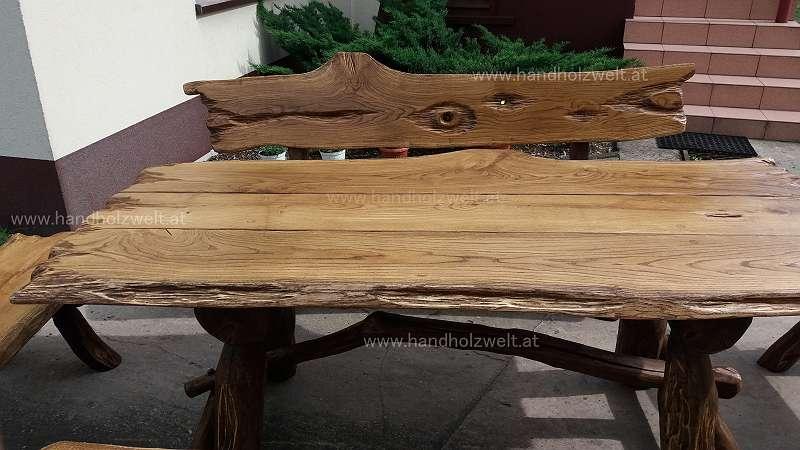 Rusti Eiche D Urig V I P Gartengarnitur 100 Eiche Vollholz Eichenholz Rustikale Gartengarnitur Gartenmöbel Sitzgruppe Massivholz