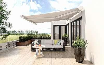 Sonnenschutz Gelenkarmmarkise Markise elektronische Vollkassettenmarkise Terrasse mit Motor 450 x 300 cm weiss mit Funkfernbedieung VASP1304