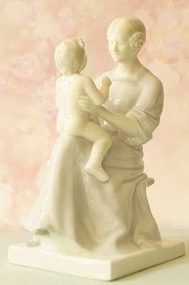 HEUBACH Mutterglück – Entwurf Mathilde Freiin von Waldenfels Jugendstil Figur Skulptur Art Déco Mütter Kind Frau Dame