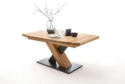 MENDOZA Esstisch Esszimmertisch Küchentisch rechteckig bootsförmig Tisch Massiv Massivholztisch MCA*