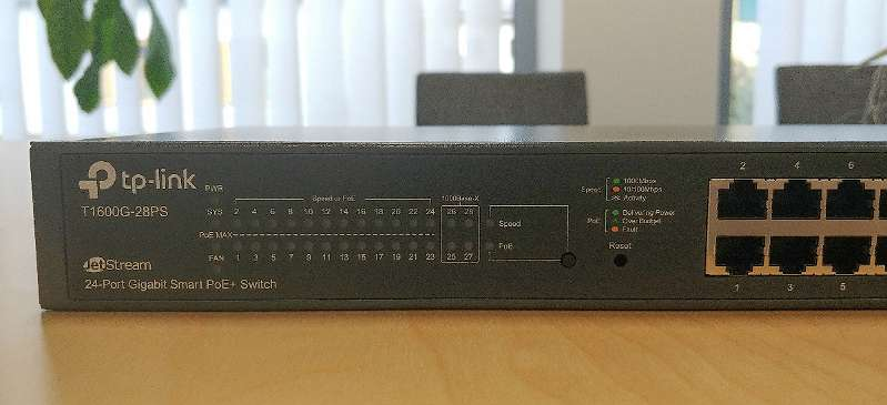 TP-Link T1600-28PS 28 Port PoE Gigabit Switch + GARANTIE