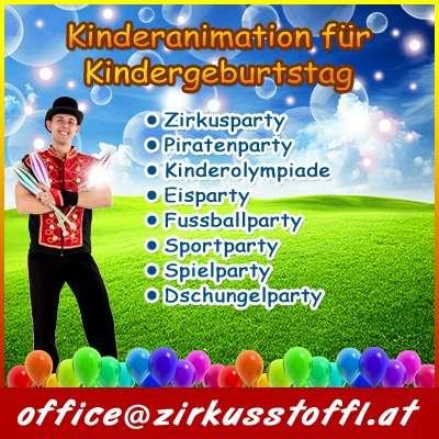 Kinderanimation, Kindergeburtstag, Mottoparties, Spielanimation, Charakteren, Maskottchen